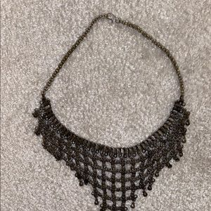 Vintage metal chunky statement necklace